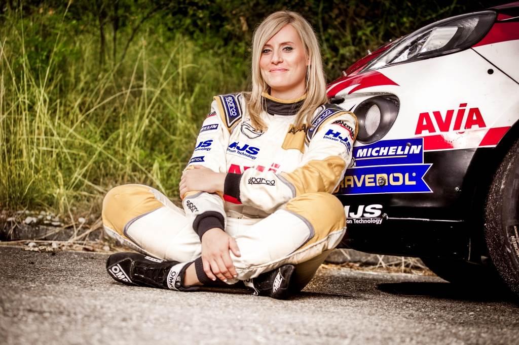 Werbeshooting mit Rallye Fahrerin Melanie Schulz